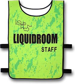 LIQUIDROOMのスタッフ型ゼッケン